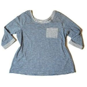 Skies Are Blue size 2X Knit Top Stripes